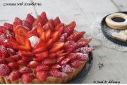 Crostata with strawberries