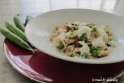 Orecchiette with peas, sun dried tomatoes...