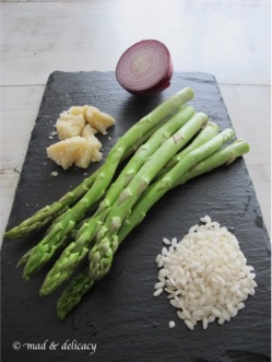 Risotto asparagus ingredients