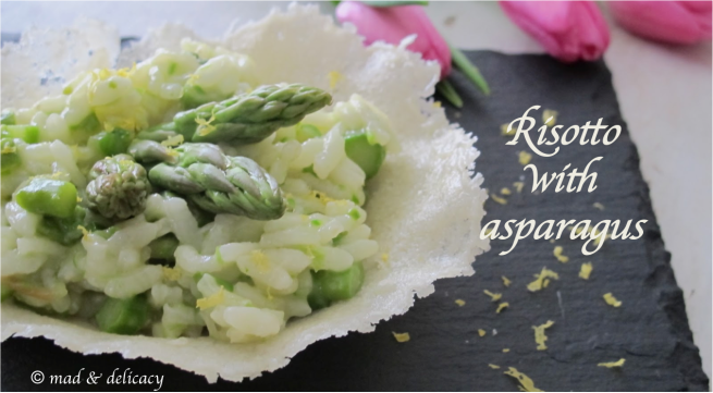 Risotto with asparagus