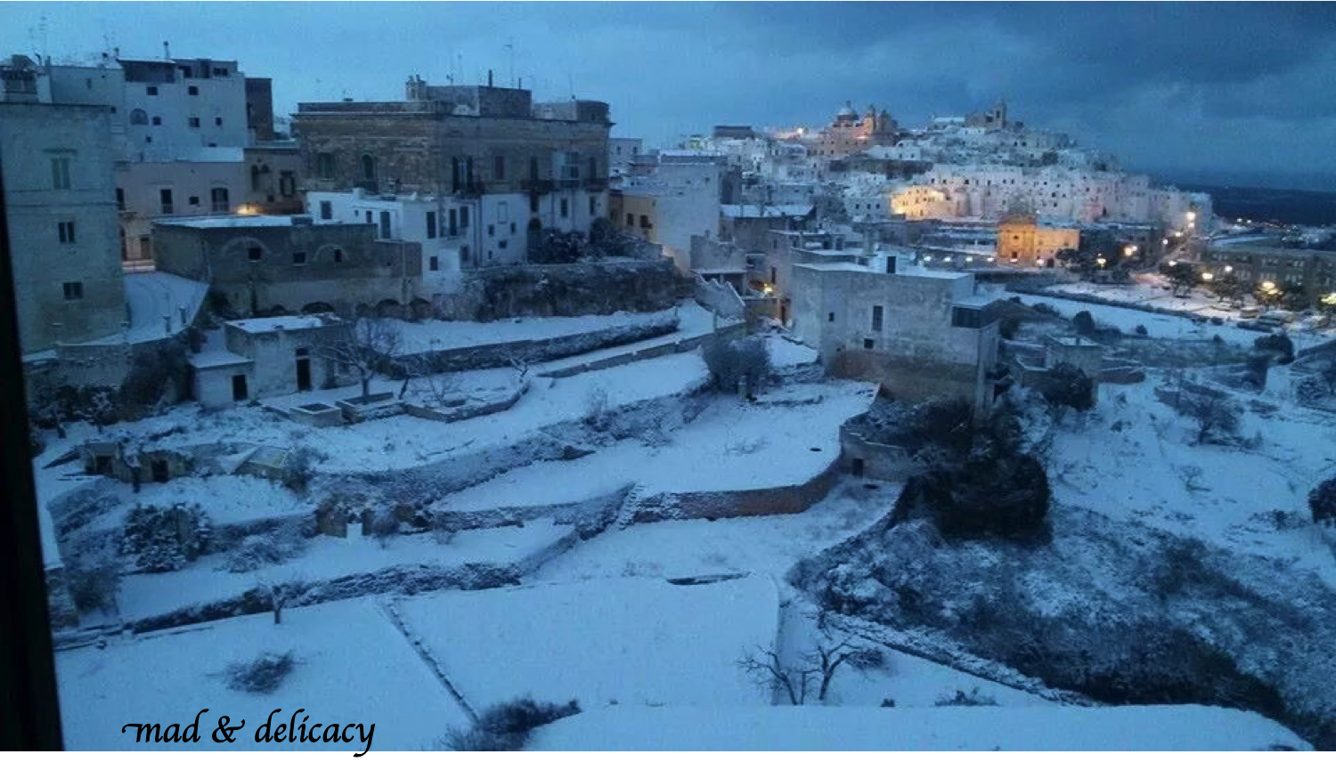 Snowing in Ostuni