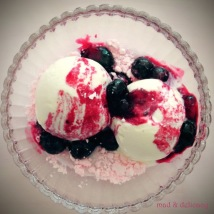 Vanilla ice-cream with warm berries