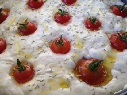 dough focaccia barese