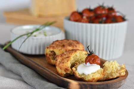 Mini Savoury Muffins with Parmigiano Reggiano Cheese and Broad Beans