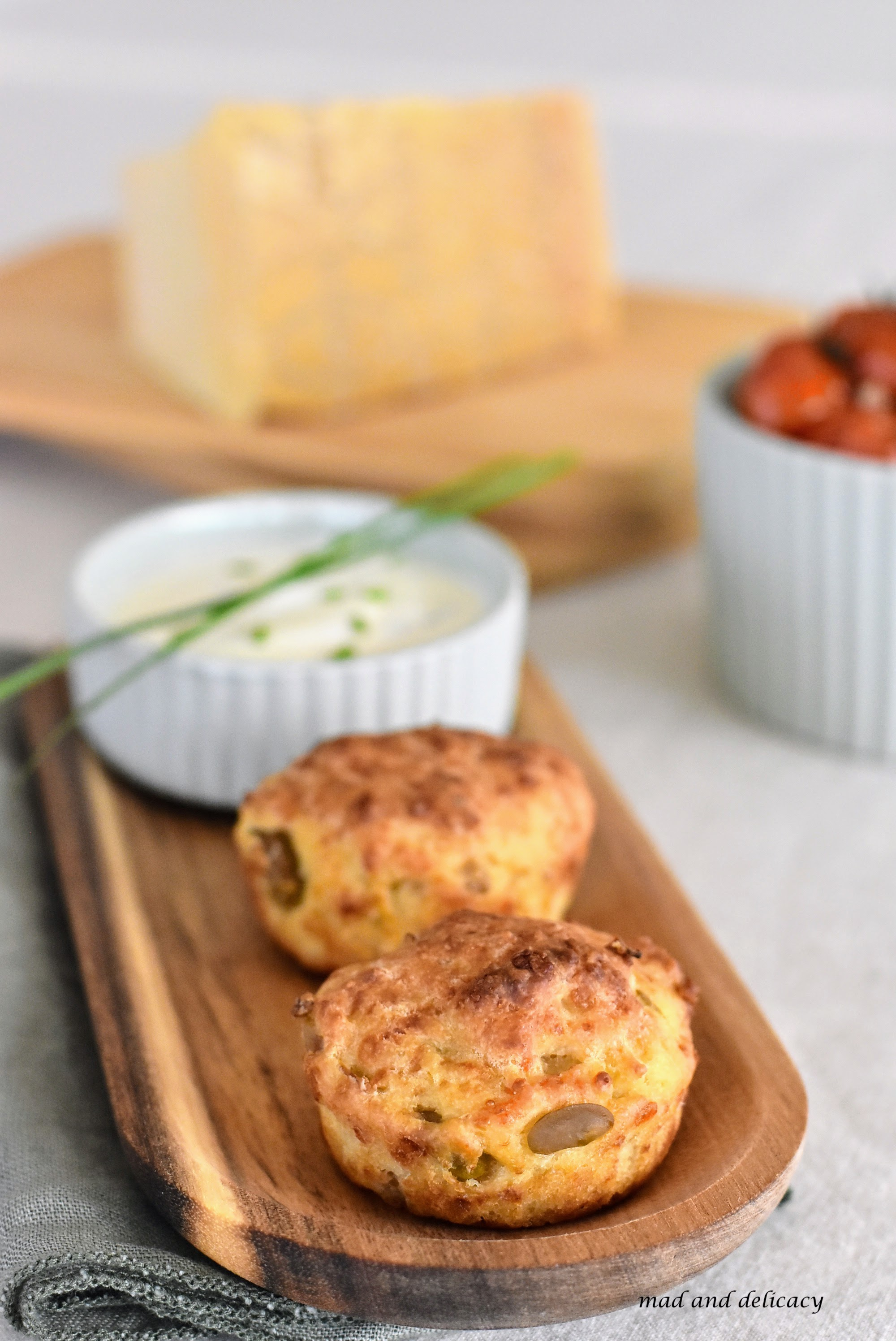 Mini Savoury Muffinswith Parmigiano Reggiano Cheese and Broad Beans