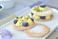 Lemon Custard Puff Pastry with Fresh Berries