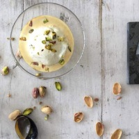 A Genius Dessert: Affogato al Caffè - Pistachio Ice Cream with Espresso Coffee