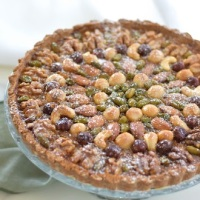 Calabrian Orange Marmalade and Mixed Nuts Crostata and Brachetto d'Acqui DOCG Sweet Red Wine