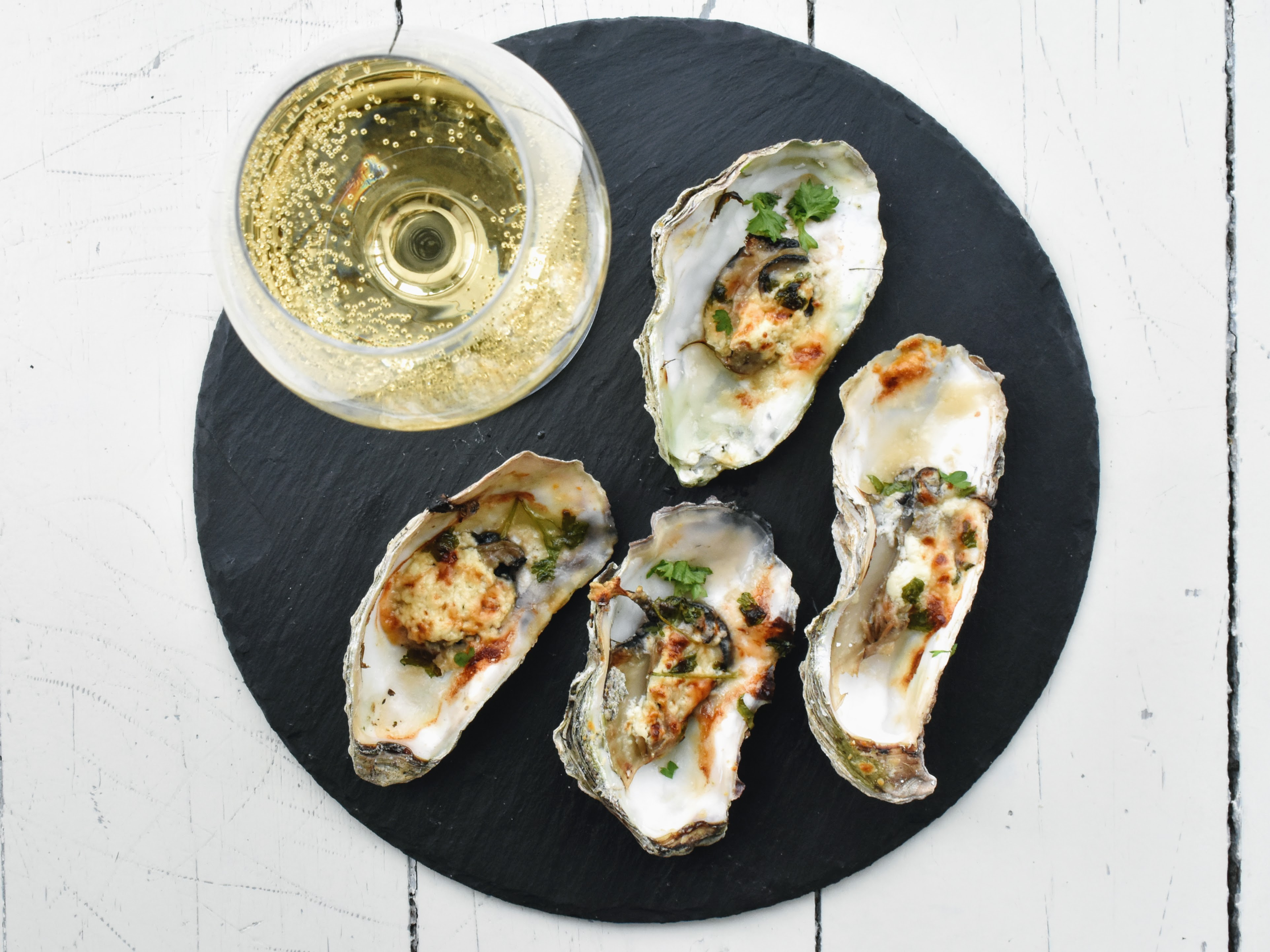 Quickly Baked Giga Oysters from Limfjord (Denmark)
