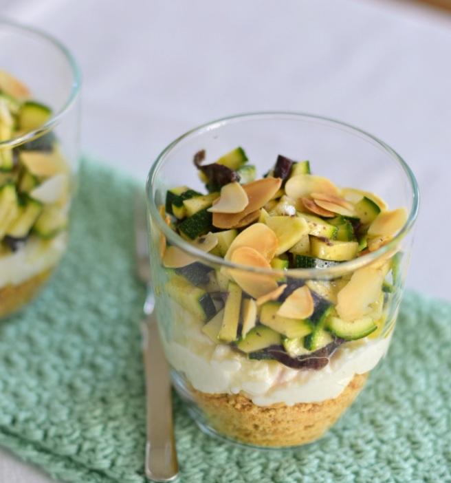 Zucchini Cheesecake in aGlass