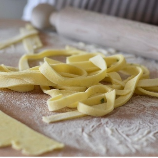Scialiatielli - a typical fresh Pasta from the Italian Costiera Amalfitana
