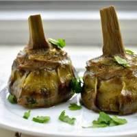 Roman Style Mammole Artichokes Recipe: Carciofi alla Romana