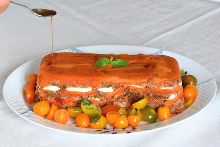 Mozzarella and Red Pepper Terrine