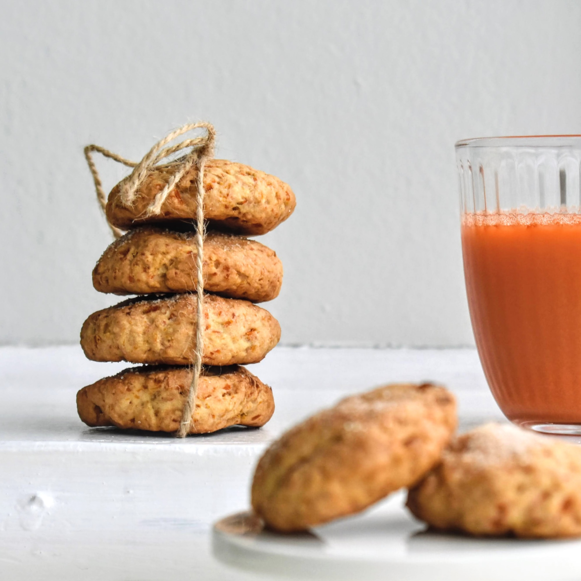 BISCUITS with LEFTOVER CARROT and JUICE PULP