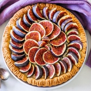 Crostata with Figs, Ricotta and Almond Cream