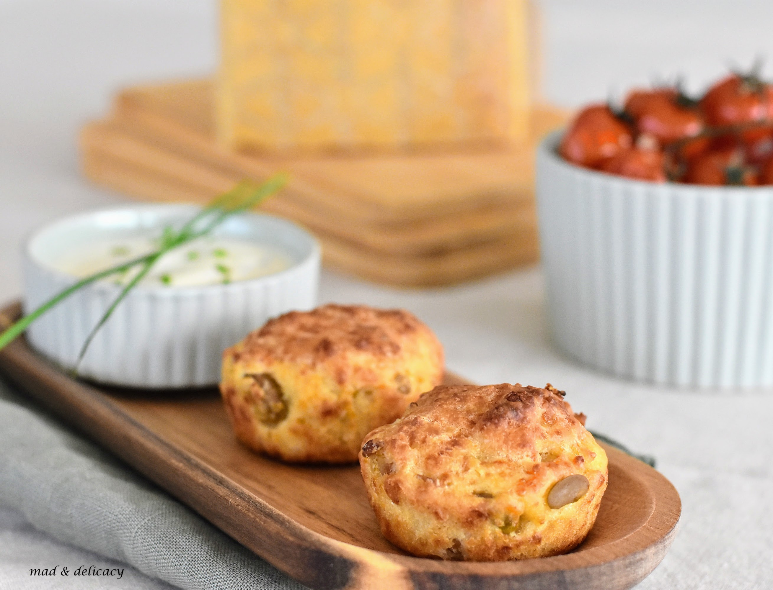 savoury muffins with Parmigiano Reggiano and Broad Beans