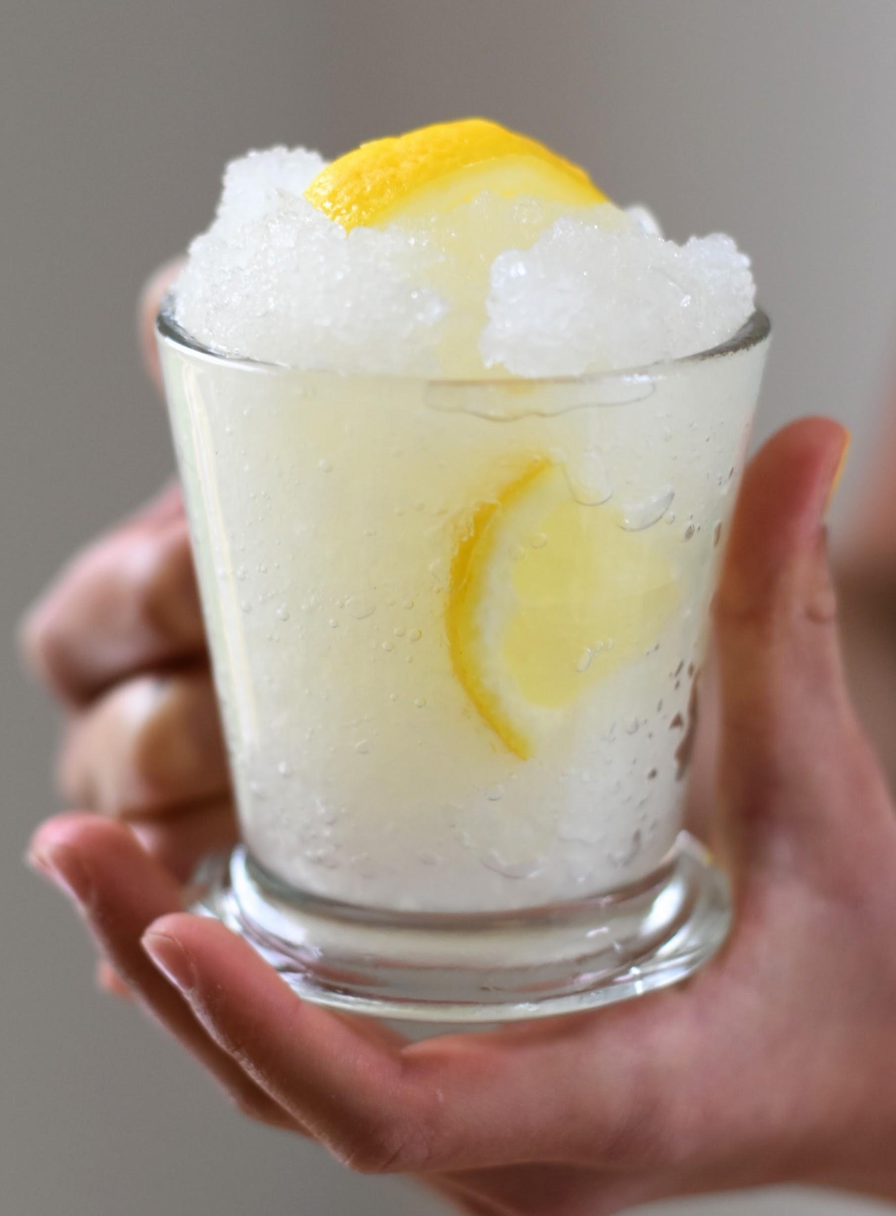Quick and Fragrant Lemon Granita -