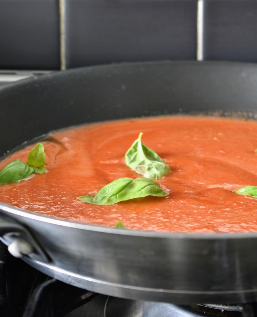 Fresh Tomato sauce - pasta alla Norma from Sicily
