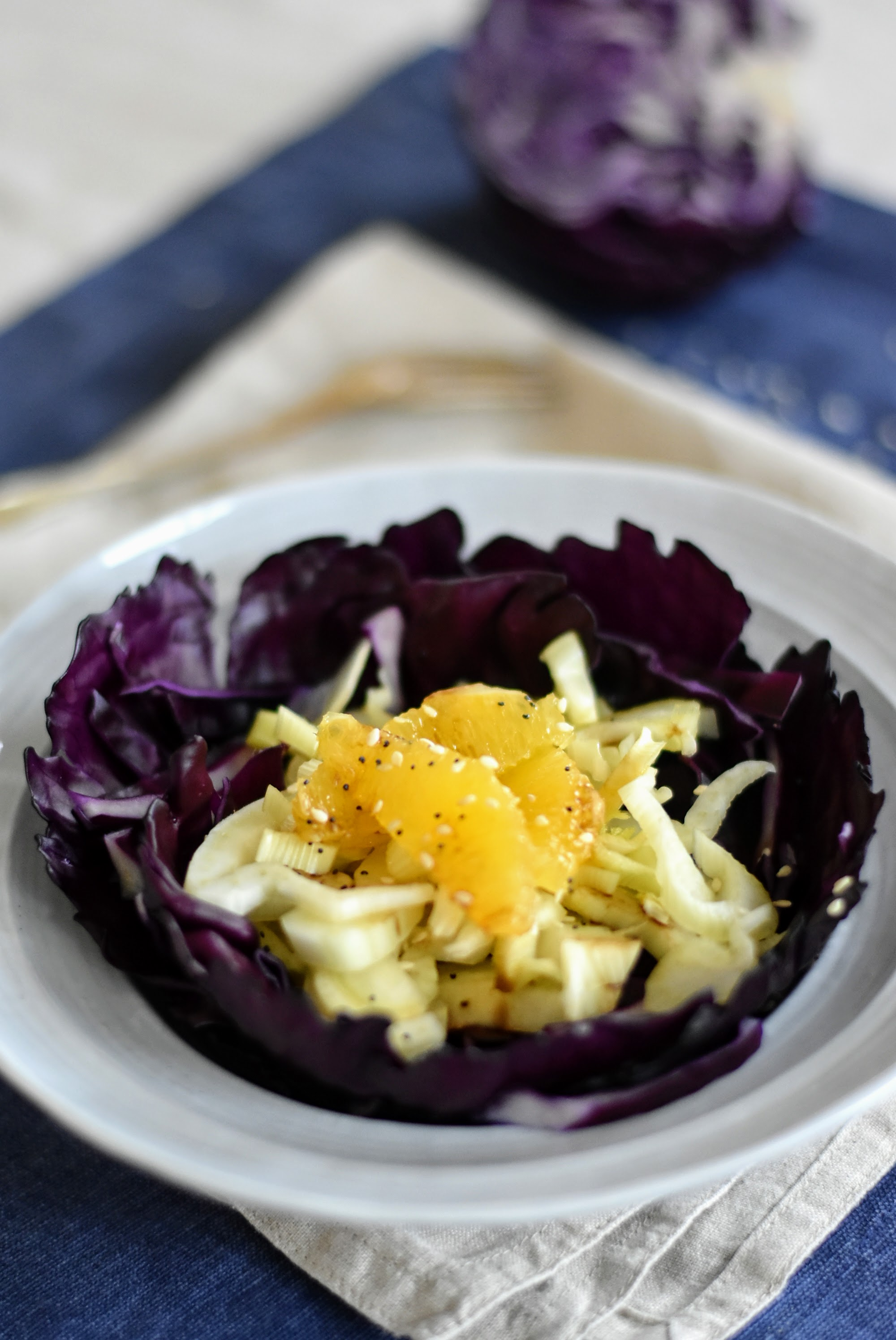 Juicy Oranges, Crunchy Fennel and Red Cabbage